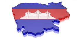Karta över Kambodja