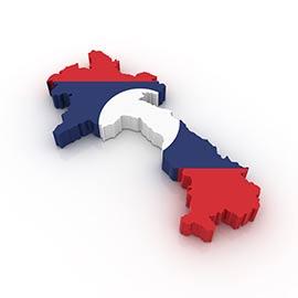 Karta över Laos